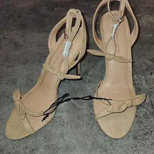 Who What Wear nude heel with bow detail